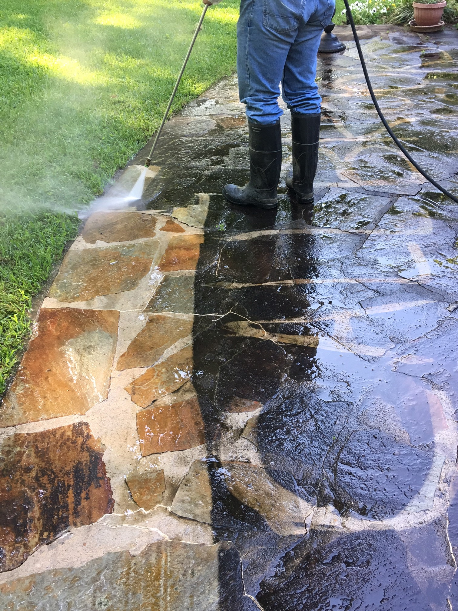 Brooks Power Washing Roof Cleaning Service Chimney